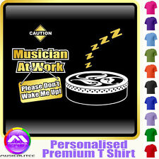 Bodhran Dont Wake Me - Personalised Music T Shirt 5yrs - 6XL by MusicaliTee