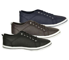 Soulstar Mens Designer Branded Perforated Lace Up Casual Pumps Trainers, BNWT