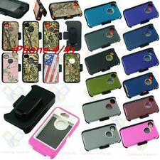 For IPhone 4/4s Camo Case Cover (Belt Holster fits Otterbox Defender series)