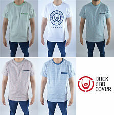 Mens Designer Duck & Cover Stylish Trendy Summer T Shirt Top Paisley Graphic Tee