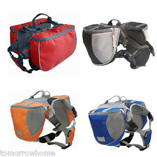 Pet Dog Oxford Cloth Saddle Bag Backpack Harness Pack for Travel Camping Hiking