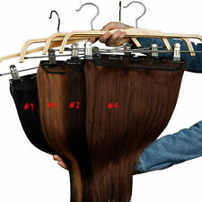 TOP Quality Clip In Remy Human Hair Extensions 3/4 Full Head  One Piece US U3