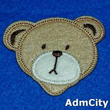Teddy Bear Head Iron Sew on Patch Applique Badge Embroidered Animal Biker Cute