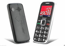 Quad Band Large Number Senior Citizen Dual Sim Card GSM Cell Phone w/ Radio, MP4