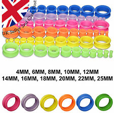 SILICONE FLESH TUNNEL EAR EXPANDER STRETCHER SOFT FLEXI PLUG FLEXIBLE EARRING
