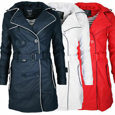 Geographical Norway Azur Damen Übergangs Jacke Mantel Regen Outdoor Trenchcoat