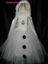 Olaf Disney Frozen (Inspired) Snowman Tutu Dress & Cape Age 3-12 with picture