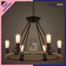 New Iron Resin E27 Rustic Chandelier Ceiling Fixture Contemporary Pendant Light