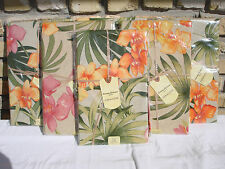 TOMMY BAHAMA TABLECLOTH Tropical Floral LINEN BLEND Fabric AFRICAN ORCHID 3 Size