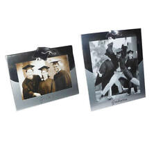 "Silver Plated Graduation Picture Photo Frame Gift Keepsake - 4x6"" & 8x10"""