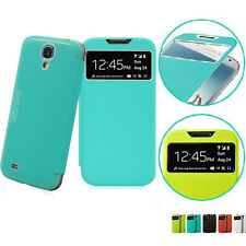 Slim S-View PU Leather Smart Case Battery Flip Cover For SAMSUNG Galaxy S4 Mega