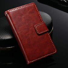 For Nokia Lumia 520 Flip Stand Wallet PU Leather Case Cover Credit Card Pouch
