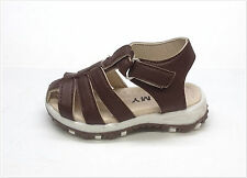 NEW INFANT/TODDLER FISHERMAN CRIBS SANDALS SIZE 2 ~ 7 CLOSE TOE BROWN