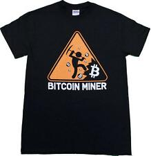 BITCOIN MINER MEN'S T SHIRT IN SIZES SMALL THRU 3XL