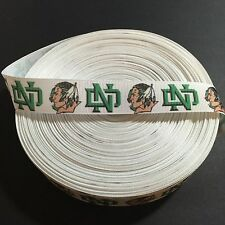 "7/8"" North Dakota Fighting Sioux Grosgrain Ribbon by the Yard (USA SELLER!)"