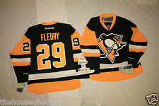 Marc Andre FLEURY NHL NEW Home PITTSBURGH PENGUINS REEBOK PREMIER HOCKEY JERSEY