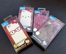 For iPhone SE 5S Hard Rubber Gummy TPU Skin Case Cover Sanrio HELLO KITTY BOW