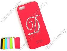 Bling Initial Letter D Cell Phone Case with Swarovski Elements for iPhone 5 5S