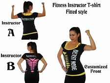 Women T-shirts, customized, fitness,dance,exercise,pilates,beast mode,Instructor