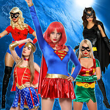 Sexy Women Robin BatGirl Spider Wonder Woman Cosplay Outfit Party Costume Adult