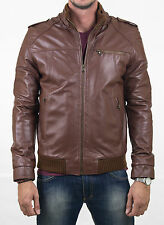 US GENUINE Men Leather Jacket Homme VESTE Cuir BLOUSON CHAQUETA CUERO HOMBRE 213