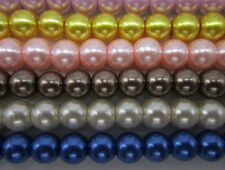 Free shipping 30-200pcs 4-10mm,Quality Czech Glass Pearl Round Bead Choose