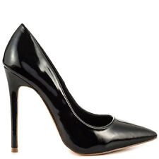 """REPUBLIC OF PALTROW POINTED TOE 4.5"""" HEEL SINGLE SOLE CLASSIC PUMP BLACK PATENT"""