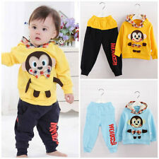 New baby kids boys outerwear and pants set boys spring autumn Clothing monkey