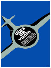 5348.Dias de vuelo.plane flying in clear sky.POSTER.Decoration.Graphic Art