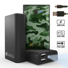 Universal External Mobile Charger 6600 Mah Duo USB with Image on Battery Charger