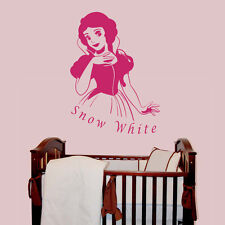 Snow White v1 - Personalised with a name of your choice - Children's Wall Decal