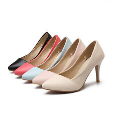 Fashion Women's high heel Pointed Simple Stilettos Office shoes US All size G082