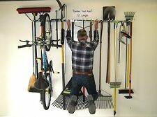 Garage Organizer - Garden Tool Rack - Bicycle Storage