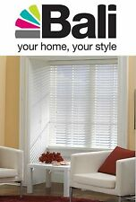 "NEW* Bali Blinds 1"" WHITE Vinyl Mini Blind - PICK YOUR WIDTH x 72"" Length"