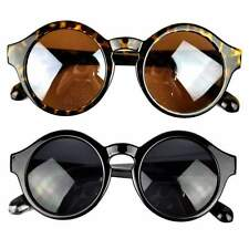 Hot Women Men Retro Plastic Round Frame UV400 Sunglasses Eyewear Glasses Kit