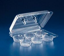 6-Cup Large Compartment Clear Plastic Muffin Cupcake Bakery Container REF #SLP76