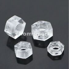 NEW M3 M4 M5 M6 Plastic hexagonal nut PC transparent Acrylic nut nuts 20 100 PCS