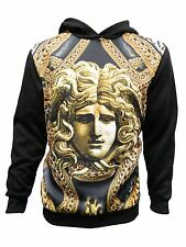 Versace looks Medusa head with Chained Graphic Men's Hoodie