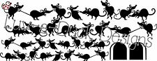 House Mice – Fun Skirting Board Stickers Mouse Wall Art Vinyl Cat