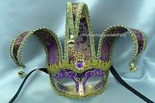 Venetian Jolly Jester Masquerade Ball Costume Prom Party Half face Eyes Mask