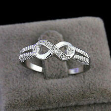 925 Sterling Silver Infinity Ring Endless Love Symbol AAA zircon Rings 6/7/8/9