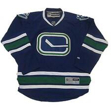 New NHL Reebok Vancouver Canucks Premier Hockey Jersey Blue Small Medium Stick
