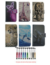 For Alcatel Nokia Huawei luxury Wallet Magnetic flip Leather case cover + stylus
