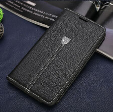 For Note 3 4 Top Leather Wallet Case Cover Card Man Business Ultrathin Magnetic