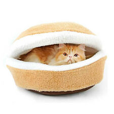 Shell Cat Hamburger Pet Sleeping  Bed Kitty Burger Pillow Bed House