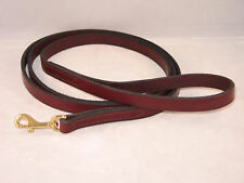 "6 FT x 3/4"" Amish Made Leather Dog Leash Brown or Black"