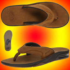 MENS☸REEF☸FANNING ULTIMATE☸LEATHER☸Sandals☸BROWN☸9 10 11 12 13☸BRO☸2015