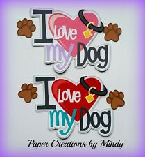 Craftecafe Mindy Pet puppy dog title premade paper piecing for scrapbook page