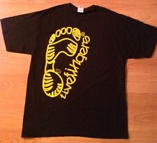 New Vibram Fivefingers Men's Black T-shirt with Yellow Logo- Clearance Price!