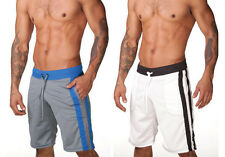 New Men's Home Pants Beach Sports Jogger Casual Mesh Made Solid Color Shorts